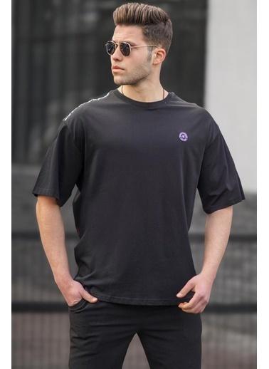 Madmext   Oversize Erkek Tişört 5218 Siyah